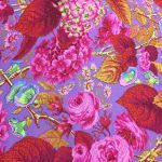 Rose and Hydrangeas - Hot by The Kaffe Fassett Collective Rose and Hydrangea - OzQuilts