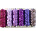 Dazzle Thread Pack- Purple Rain by Wonderfil  Sue Spargo Dazzle Rayon & Metallic - OzQuilts