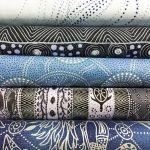 Aboriginal Art Fabric 5 Fat Quarter Bundle - Steel Colourway by M & S Textiles Fat Quarter Packs - OzQuilts