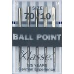 Klasse Ball Point Machine Needles Size 70/10 by Klasse Sewing Machines Needles - OzQuilts