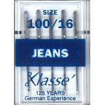 Klasse Jeans Machine Needle Size 100/16 by Klasse Sewing Machines Needles - OzQuilts