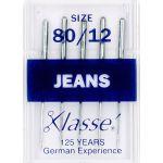 Klasse Jeans Machine Needles Size 80/12 by Klasse Sewing Machines Needles - OzQuilts
