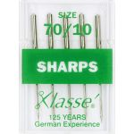 Klasse Sharps Machine Needles Size 70/10 by Klasse Sewing Machines Needles - OzQuilts
