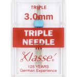 Klasse Triple Machine Needle 3.00mm by Klasse Sewing Machines Needles - OzQuilts