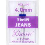 Klasse Jeans Twin Machine Needle Size 100 4mm by Klasse Sewing Machines Needles - OzQuilts
