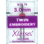 Klasse Embroidery Twin Machine Needle Size 75 3.00mm by Klasse Sewing Machines Needles - OzQuilts