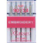 Klasse Embroidery Machine Needles 90/14 by Klasse Sewing Machines Needles - OzQuilts