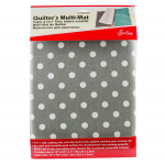 Quilter's 4-in-1 Multi Mat - Grey with White Dots by Sew Easy Cutting Mats - OzQuilts