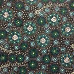 Gathering Bush Tucker Black by Gloria Doolan by M & S Textiles Cut from the Bolt - OzQuilts