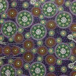 Gathering Bush Tucker Purple by Gloria Doolan by M & S Textiles Cut from the Bolt - OzQuilts