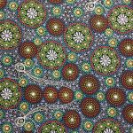 Gathering Bush Tucker Green by Gloria Doolan by M & S Textiles Cut from the Bolt - OzQuilts