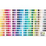 Kona Cotton Printed Color Chart Digitally Printed Fabric by Robert Kaufman Fabrics Kona Cotton - OzQuilts