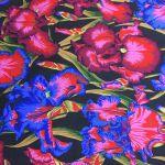 Bearded Iris - Dark by The Kaffe Fassett Collective Bearded Iris  - OzQuilts