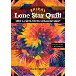 Spiral Lone Star Quilt : Strip & Paper Pieced Medallion Quilt by C&T Publishing Quilt Books - OzQuilts