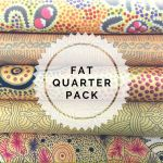 Aboriginal Art Fabric 5 Fat Quarter Bundle - Gold by M & S Textiles Fat Quarter Packs - OzQuilts