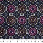 Bush Berry Blue by Marlene Doolan by M & S Textiles Cut from the Bolt - OzQuilts