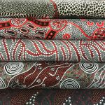 Aboriginal Art Fabric 5 Fat Quarter Bundle - Black, White & Red Colourway by M & S Textiles Fat Quarter Packs - OzQuilts