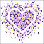Exploding Heart Quilt Pattern by Slice of Pi Quilts Quilt Patterns - OzQuilts