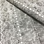 Aboriginal Art Fabric 5 Fat Quarter Bundle - White Colourway by M & S Textiles Fat Quarter Packs - OzQuilts