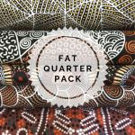 Aboriginal Art Fabric 5 Fat Quarter Bundle - Black & Copper Colourway by M & S Textiles Fat Quarter Packs - OzQuilts