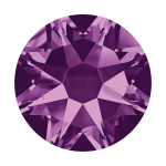 Swarovski Hotfix Flatback Crystals Amethyst SS34 by Swarovski Stone Size SS34 (7mm) - OzQuilts