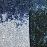 Java Fusion Batik Dark to Light Blue/Grey Ombre Batik Watercolor Blender By Fresh Water Designs by Hoffman Batik - OzQuilts
