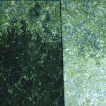 Java Fusion Batik Light Green to Dark Green Ombre Batik Watercolor Blender By Fresh Water Designs by Hoffman Batik - OzQuilts