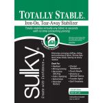 "Totally Stable Iron-on Tear-Away Stabilizer White 20"" x 1 yard"