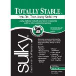 "Totally Stable Iron-on Tear-Away Stabilizer Black 20"" x 1 yard"