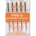 Klasse Overlocker, Needles Type G Size 80/12 by Klasse Sewing Machines Needles - OzQuilts