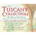 "Hobbs Tuscany 100% Wool Batting King size 120"" x 120"""