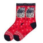 Red Polka Dot Crew Socks