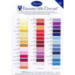 Superior Kimono Silk Thread Colour Card 1
