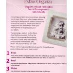 ExtravOrganza Semi transparent Inkjet Printable Silk Fabic sheets (5)