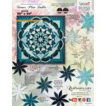 Dinner Plate Dahlia Pattern & Foundation Papers by Quiltworx - Queen Size
