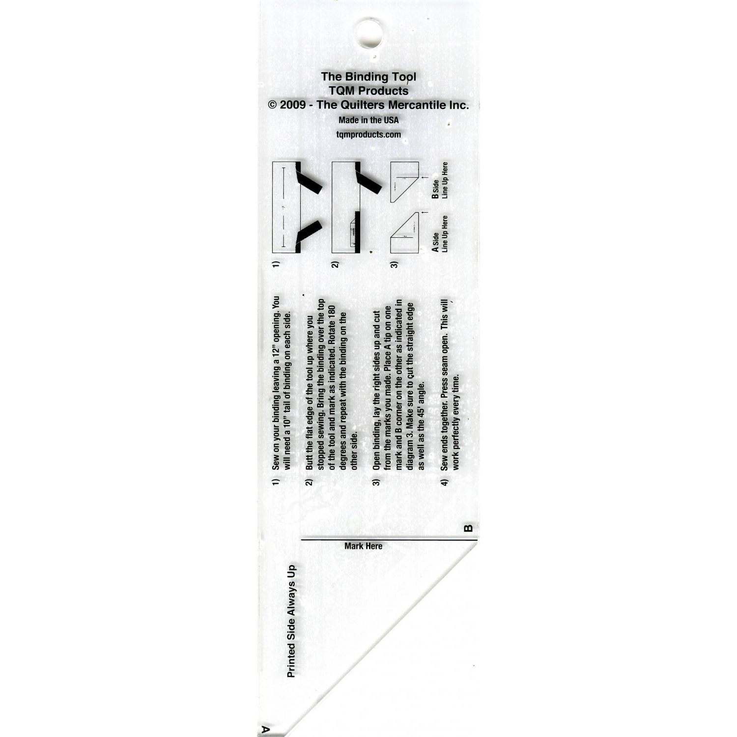 The Binding Tool Template Ruler By Tqm Products Piping Diagram Program Bias Mitering Rulers