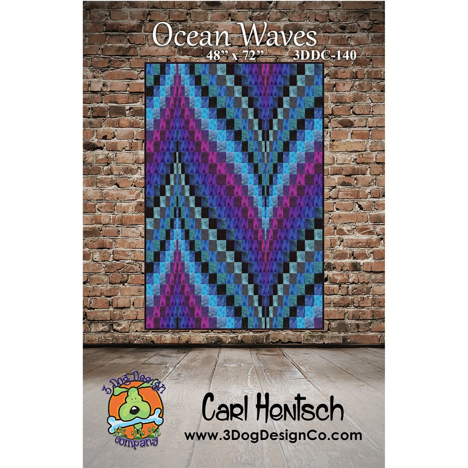 Ocean Waves Quilt Pattern By 3 Dog Design Company