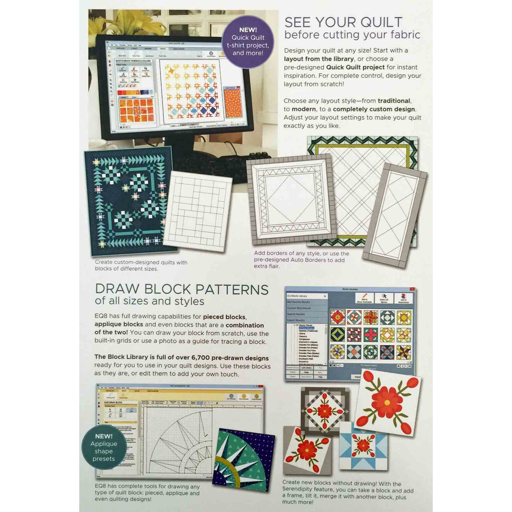 Electric Quilt 8 Quilt Design Software by Electric QuiltQuilt Drawing Program