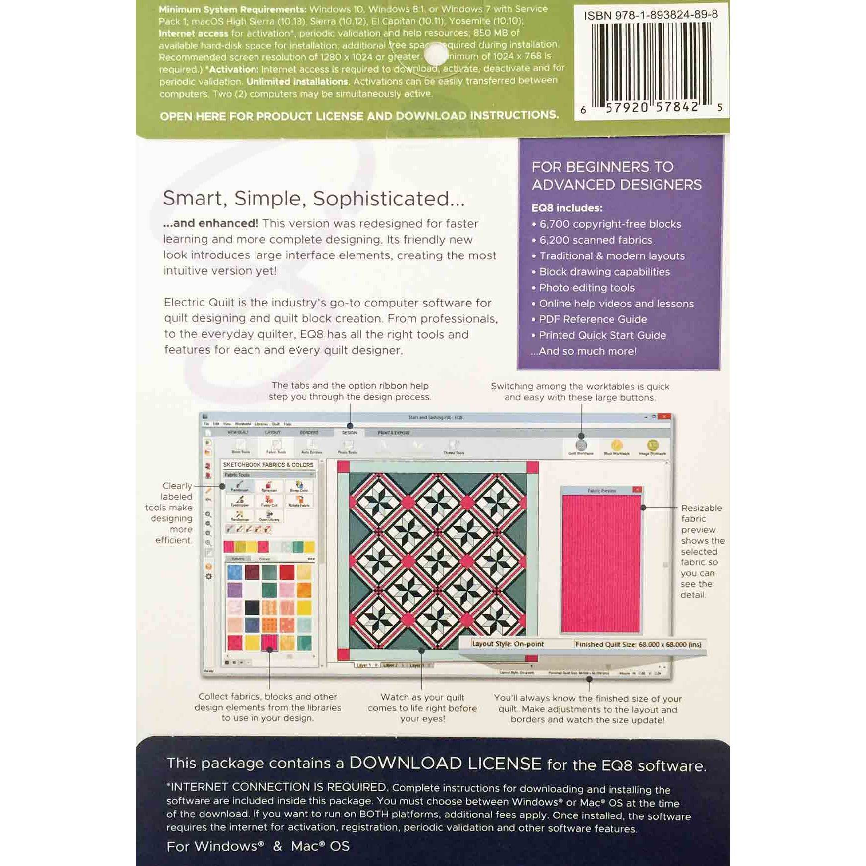 Electrical Design Software Home: Electric Quilt 8 Quilt Design Software By Electric Quilt