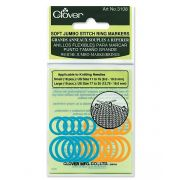 Clover Soft Jumbo Stitch Ring markers by Clover - Stitch Markers
