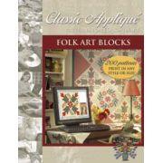 EQ Classic Applique Folk Art Blocks CD by Electric Quilt - Electric Quilt