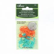 Clover Locking Stitch Markers by Clover - Stitch Markers