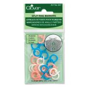 Clover Split Ring Markers by Clover - Stitch Markers