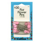 Collins Pink Flower Head Pins (100) by Collins - Flower Head Pins