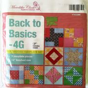 """Back to Basics 4 Grid 12"""" Template Set by Matilda's Own - Quilt Blocks"""