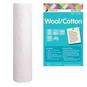 Matilda's Own 60% Wool 40% Cotton Batting, 2.4 metres wide by Matilda's Own - Batting by the Metre