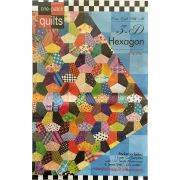 3-D Hexagon One Patch Pattern & Template by Come Quilt with Me - Quilt Blocks
