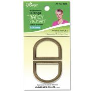 """Clover D-Rings 1-1/4"""" (Satin Bronze) by Clover - Hardware for Bags"""