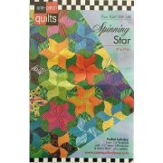 Spinning Star One Patch Pattern & Template by Come Quilt with Me - Quilt Blocks