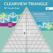"""Clearview 12"""" Triangle Ruler by Quilt with Marci Baker - Triangles 60 Degrees"""